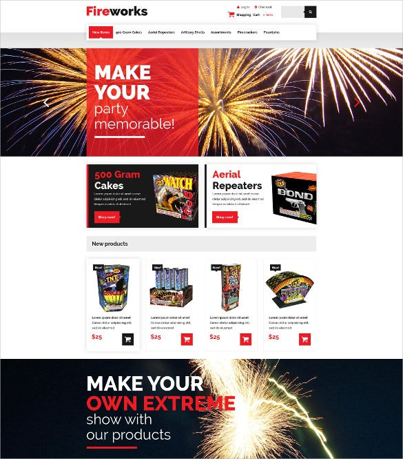 creative fireworks shop zencart template