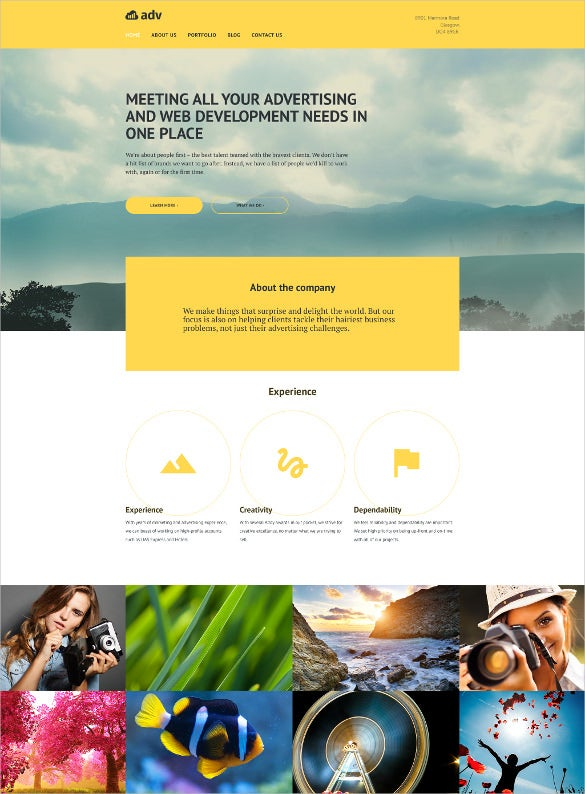 coporate advertising php template
