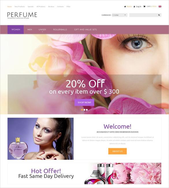 creative perfumes zencart template