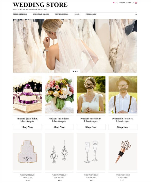 creative wedding planning zencart theme