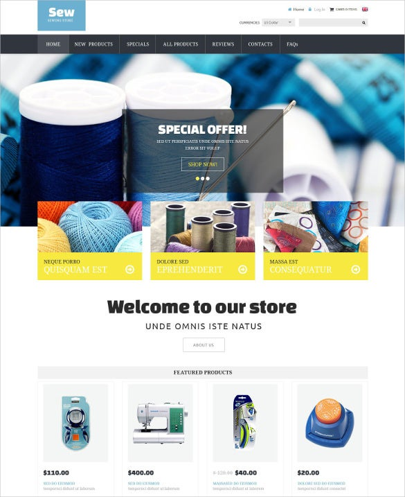 craft supplies zencart creative template