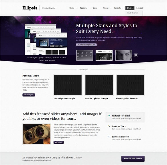 flixible coporate php template