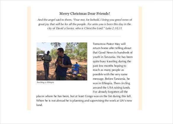 christmas family newsletter templates