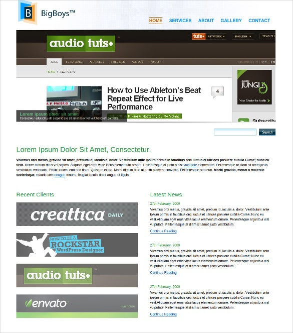 responsive corporate php template