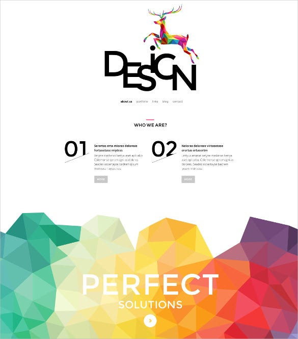 creative design psd theme