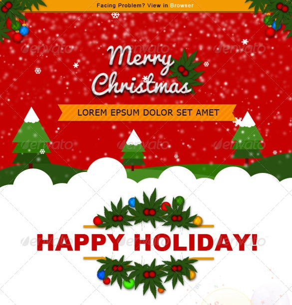 christmas offer newsletter template