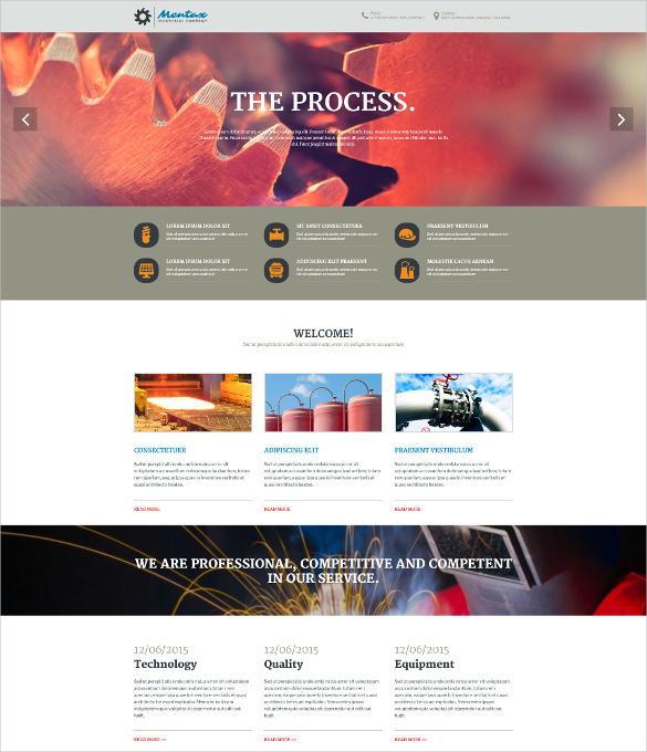 creative industrial company psd theme