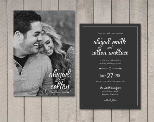 vintage sweet couple traditional wedding invitation