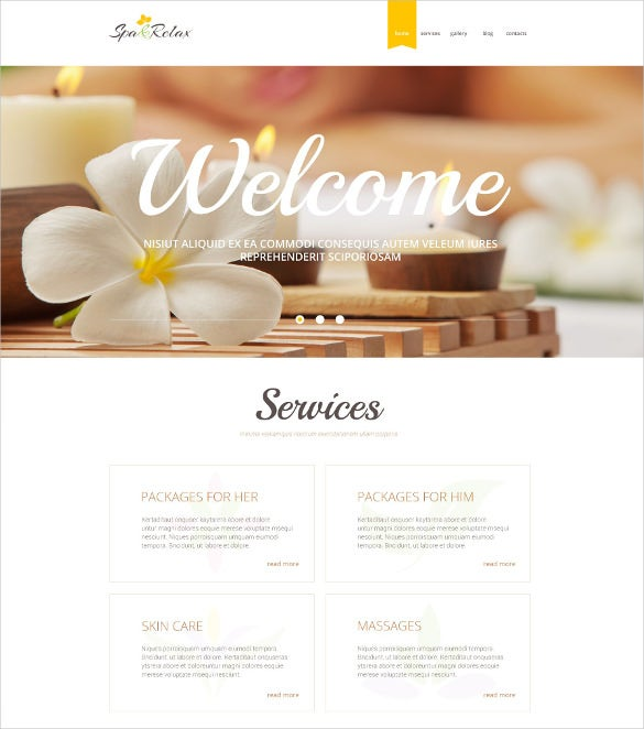 creative spa relax psd template