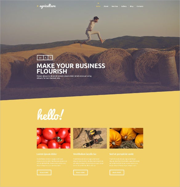 creative agriculture psd template