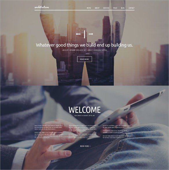 creative architecture psd template