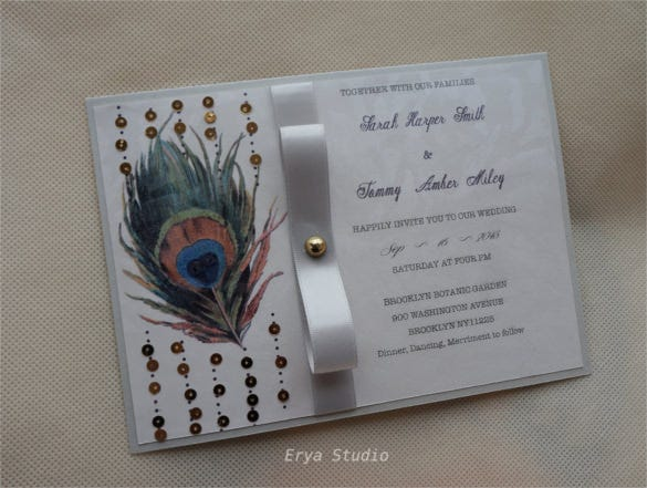 unique feathers peacock invitation1