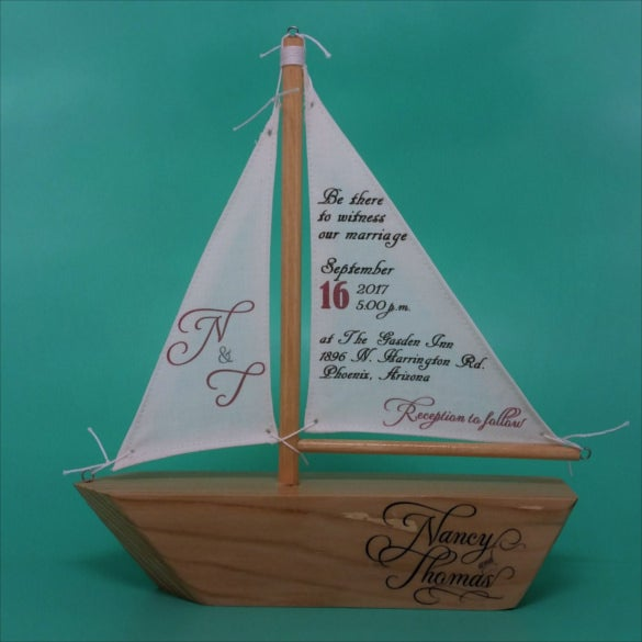 sailboat handmade wedding invitations templates1