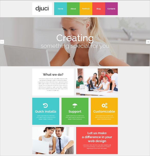 creative photography psd template