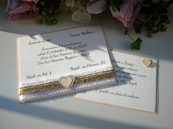 unique personalized handmade wedding invitation template1