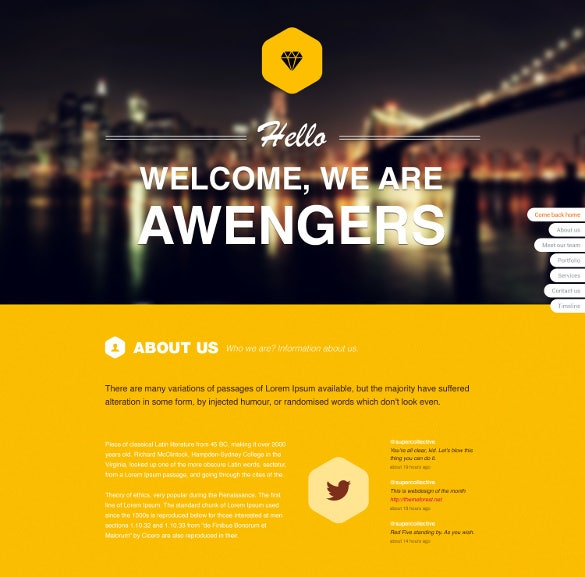 creative blog psd template