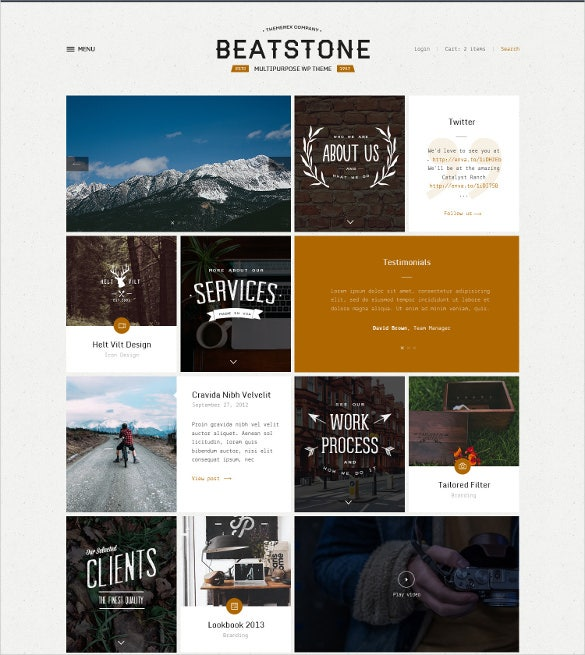 creative flat gallery psd theme