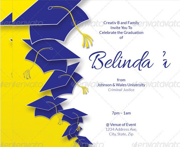 belinda graduation party invitation template