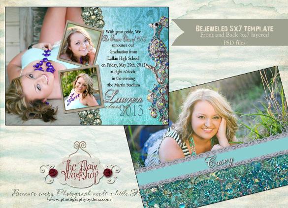 design bejeweled senior graduation invitation template