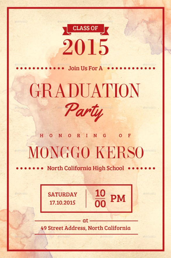 27 graduation invitation templates free sample example format yellow graduation invitation template stopboris Gallery