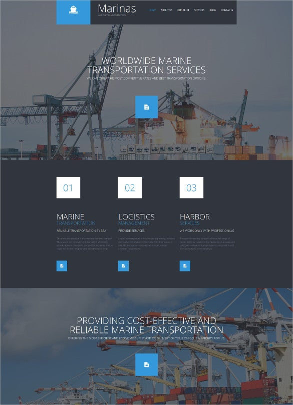 dark corporate php template