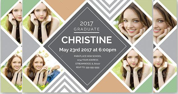layered graduation invitation template