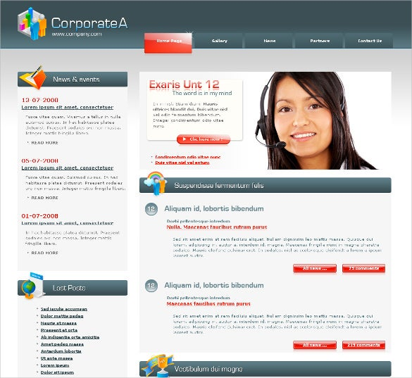 corporate professional php template