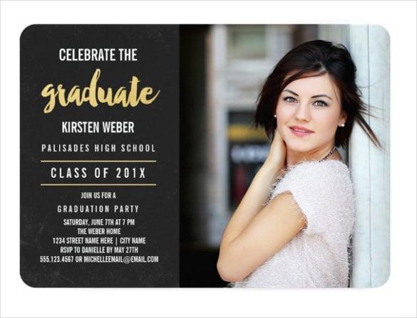 celebrate photo graduation party invitation