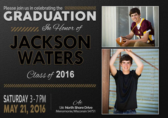 Graduation Invitation Templates  Free Sample Example Format