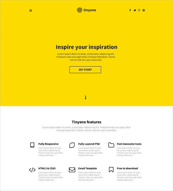 simple creative psd template