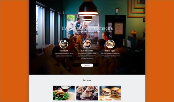 free creative restaurant psd template