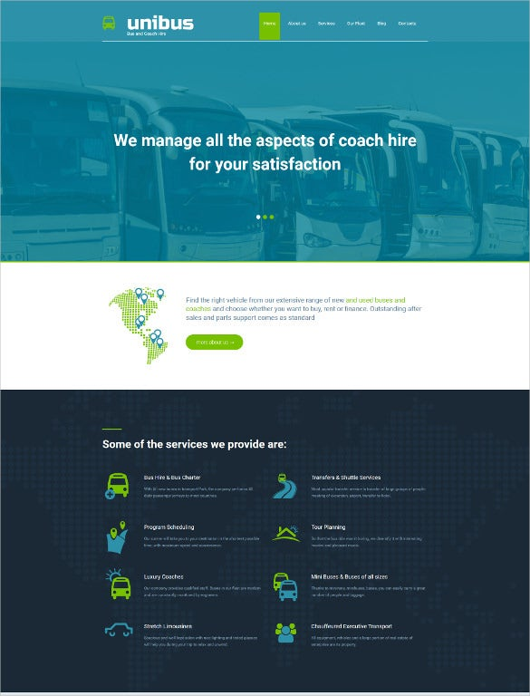 corporate bus company php template