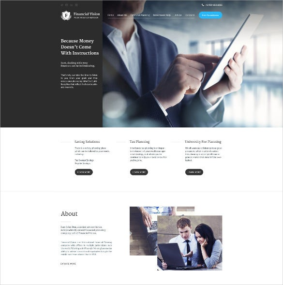 finacial corporate php template