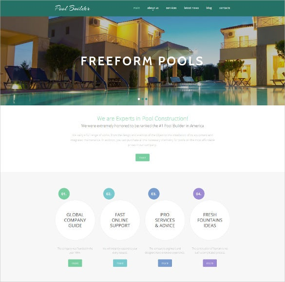 beautiful corporate php template