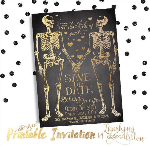 Halloween Wedding Invitation 19 Psd Jpg Format