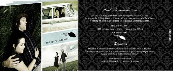 rustic crow wedding invitation