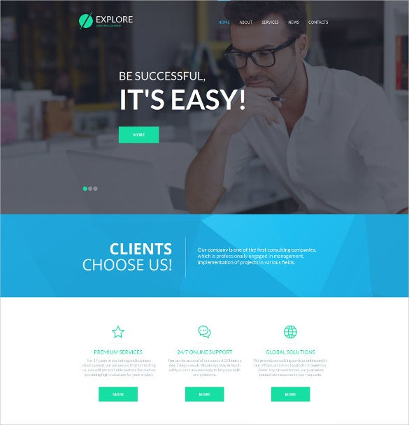 business corporate php template
