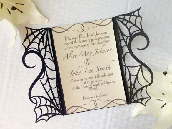 Halloween Wedding Invitation- 19+ PSD, JPG, Format Download | Free ...
