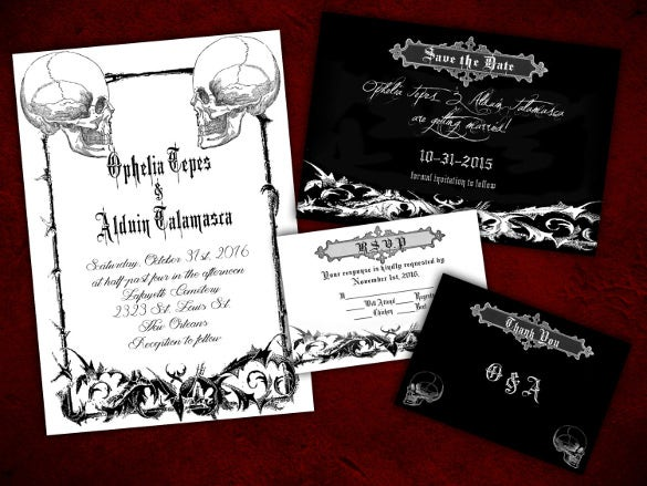 halloween wedding invitation 19 psd, jpg, format download free Gothic Wedding Invitations Templates two souls gothic halloween wedding invitation gothic wedding invitation templates