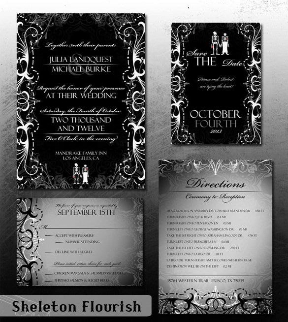 halloween wedding invitation 19 psd, jpg, format download free Gothic Wedding Invitations Templates digital printable bride and groom wedding gothic wedding invitation templates