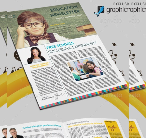teacher newsletter education template