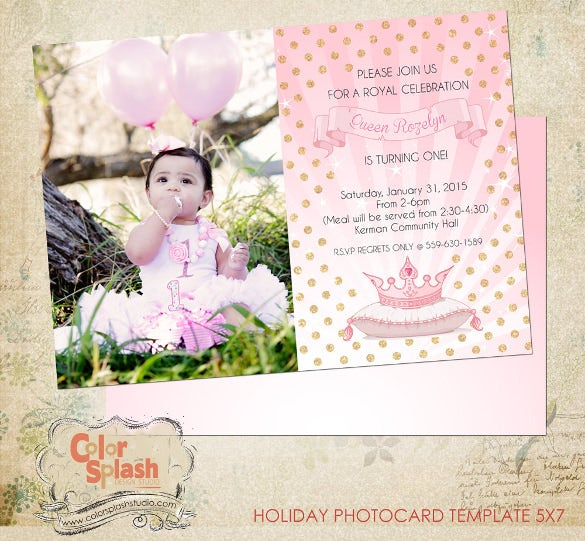 Birthday Invitation Templates Free Sample Example Format - 5x7 birthday invitation template