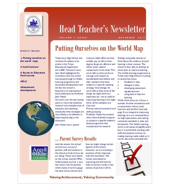 Teacher Newsletter Templates 7 Psd Pdf Formats Download Free