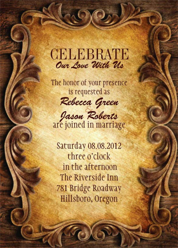 21+ western wedding invitation templates – free sample, example,