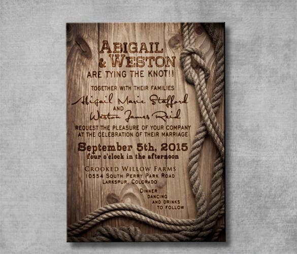 customizable style wedding invitation