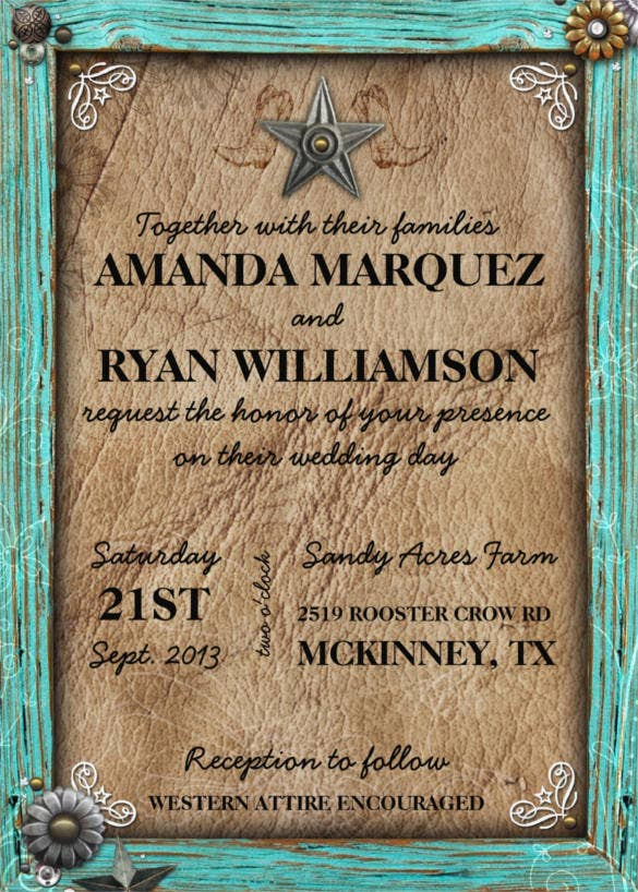 rustic country western wedding template