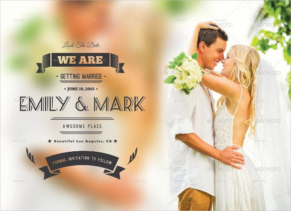 fully layered wedding postcard in psd