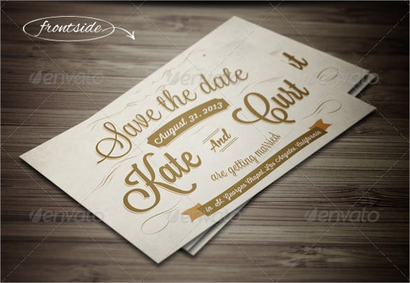 save the date vintage wedding invitation postcard template