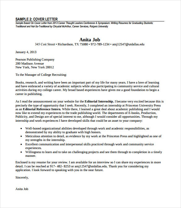 experienced professional cover letter pdf format free download