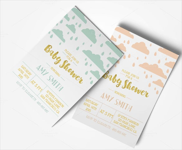 baby shower invitation template for children
